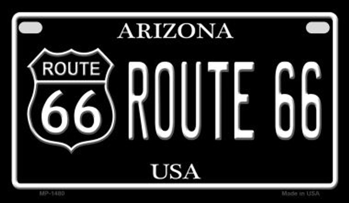 Route 66 Arizona Novelty Metal Motorcycle Plate MP-1480