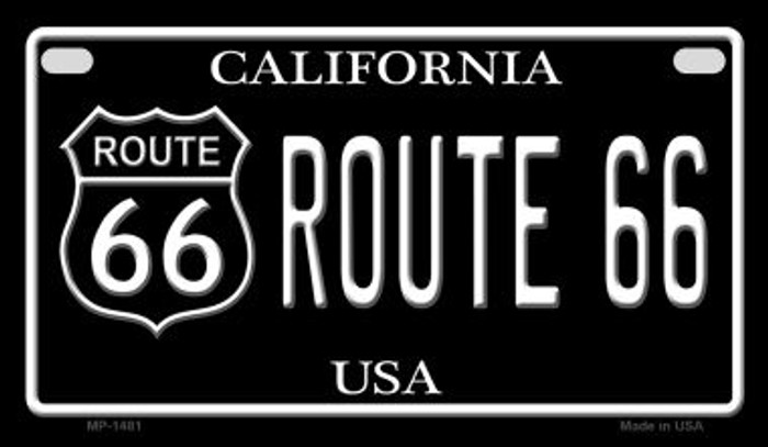 Route 66 California Novelty Metal Motorcycle Plate MP-1481