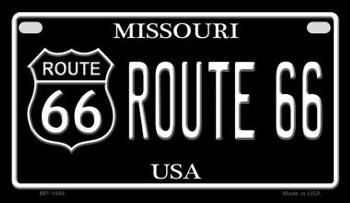 Route 66 Missouri Novelty Metal Motorcycle Plate MP-1484