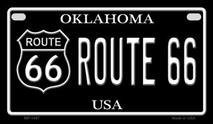 Route 66 Oklahoma Novelty Metal Motorcycle Plate MP-1487