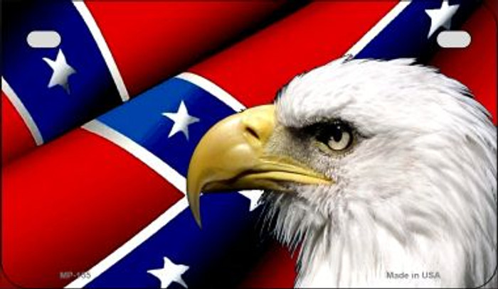 Confederate Flag Eagle Novelty Metal Motorcycle Plate MP-155