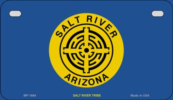 Salt River Tribe Novelty Metal Motorcycle Plate MP-1864