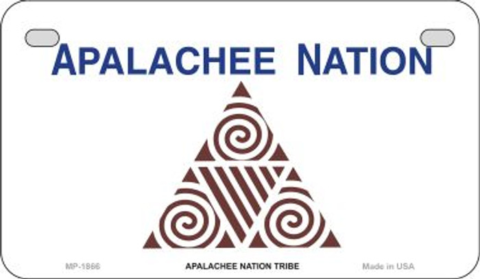 Apalachee Nation Tribe Novelty Metal Motorcycle Plate MP-1866