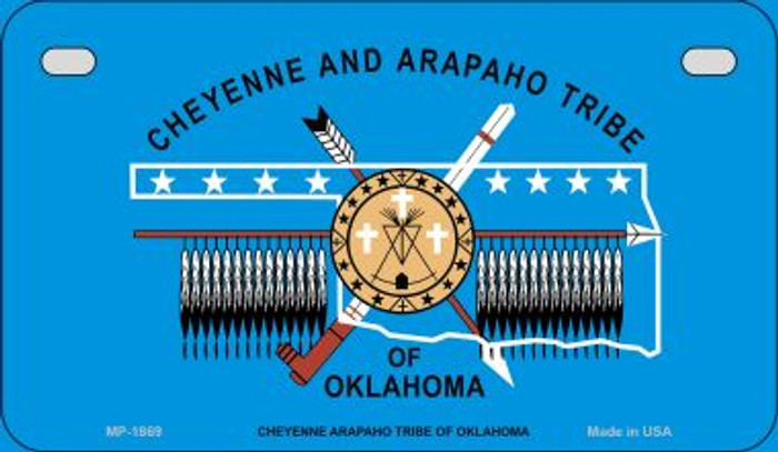 Cheyenne Arapaho Tribe Novelty Metal Motorcycle Plate MP-1869