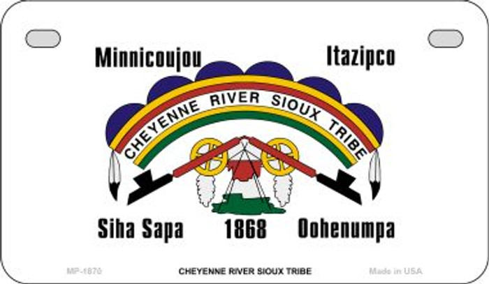 Cheyenne River Sioux Tribe Novelty Metal Motorcycle Plate MP-1870