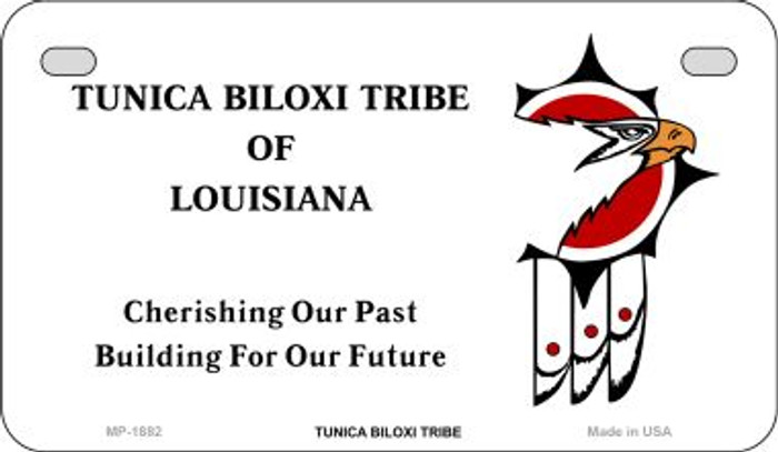 Tunica Biloxi Tribe Novelty Metal Motorcycle Plate MP-1882