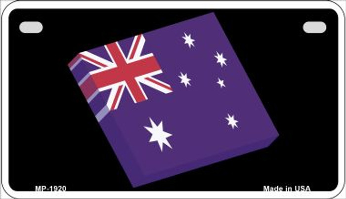 Australia 3-D Flag Novelty Metal Motorcycle Plate MP-1920