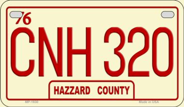 CNH 320 Hazzard Country Novelty Metal Motorcycle Plate MP-1930