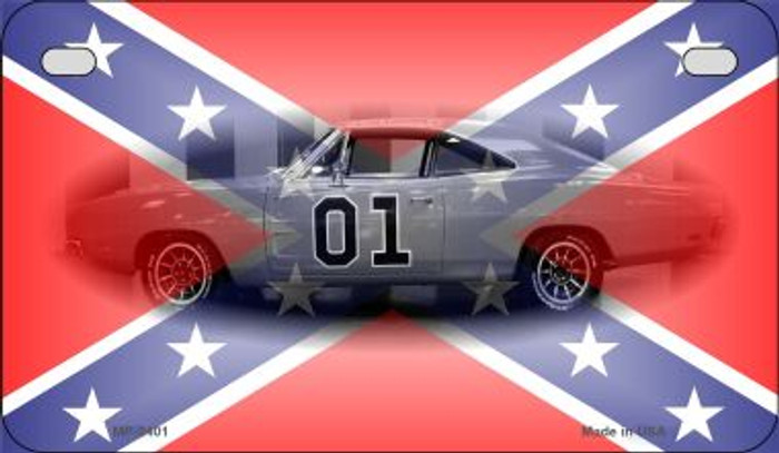 Confederate General Lee Novelty Metal Motorcycle Plate MP-2401
