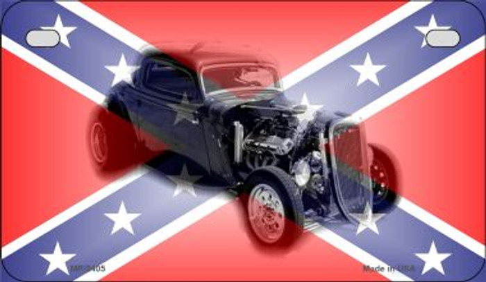 Confederate Hotrod Novelty Metal Motorcycle Plate MP-2405