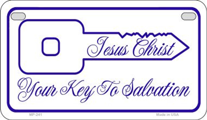 Jesus Christ Key To Salvation Novelty Metal Motorcycle Plate MP-241