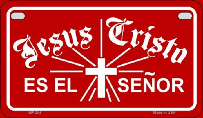 Jesus Cristo Es El Senor Novelty Metal Motorcycle Plate MP-244