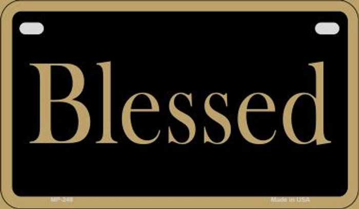 Blessed Novelty Metal Motorcycle Plate MP-248