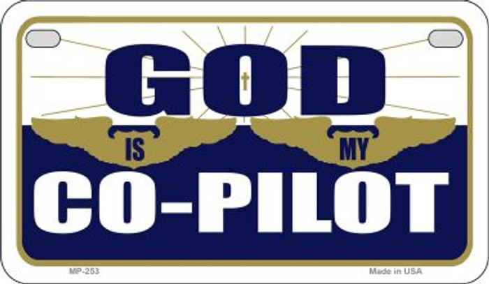 God Is My Pilot Novelty Metal Motorcycle Plate MP-253