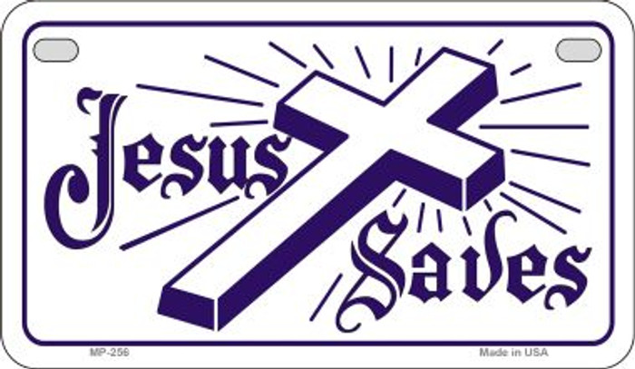 Jesus Saves Novelty Metal Motorcycle Plate MP-256