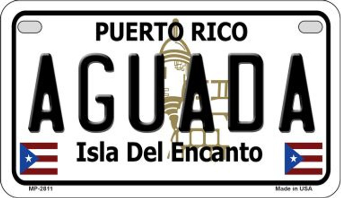 Aguada Puerto Rico Novelty Metal Motorcycle Plate MP-2811