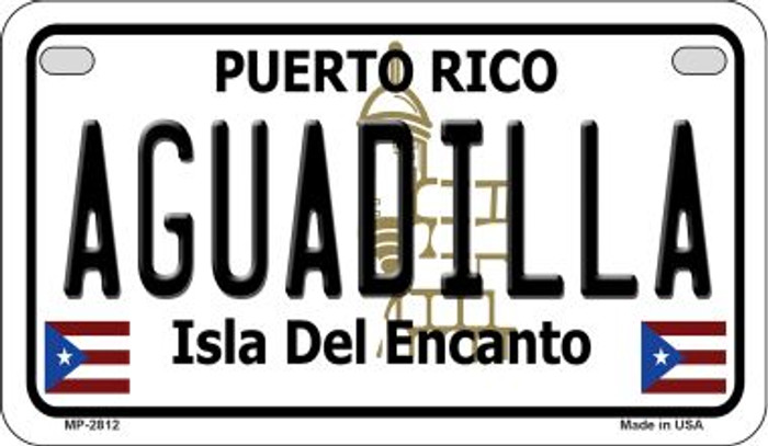 Aguadilla Puerto Rico Novelty Metal Motorcycle Plate MP-2812