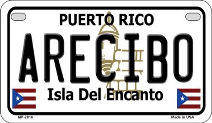 Arecibo Puerto Rico Novelty Metal Motorcycle Plate MP-2816