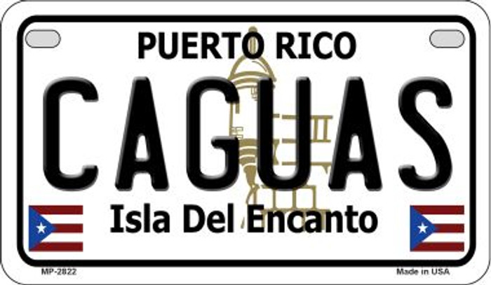 Caguas Puerto Rico Novelty Metal Motorcycle Plate MP-2822