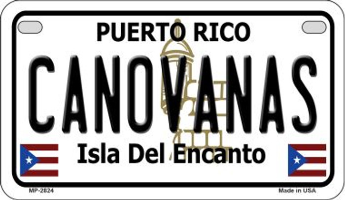 Canovanas Puerto Rico Novelty Metal Motorcycle Plate MP-2824