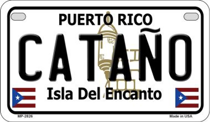 Catano Puerto Rico Novelty Metal Motorcycle Plate MP-2826