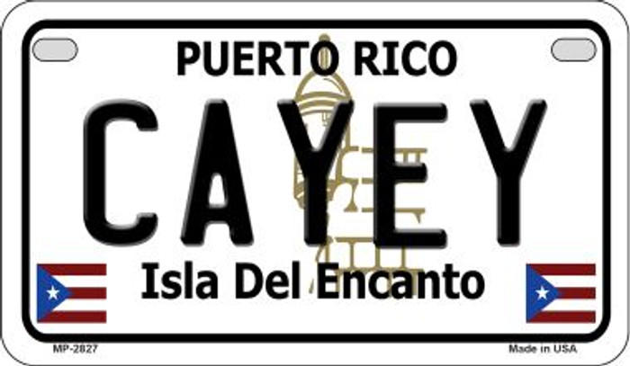 Cayey Puerto Rico Novelty Metal Motorcycle Plate MP-2827