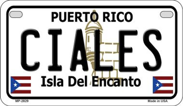 Ciales Puerto Rico Novelty Metal Motorcycle Plate MP-2829