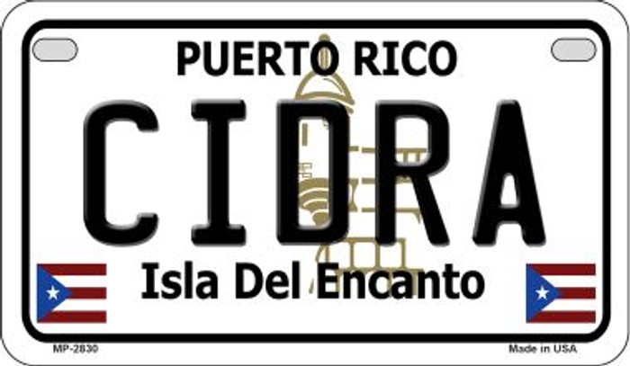 Cidra Puerto Rico Novelty Metal Motorcycle Plate MP-2830