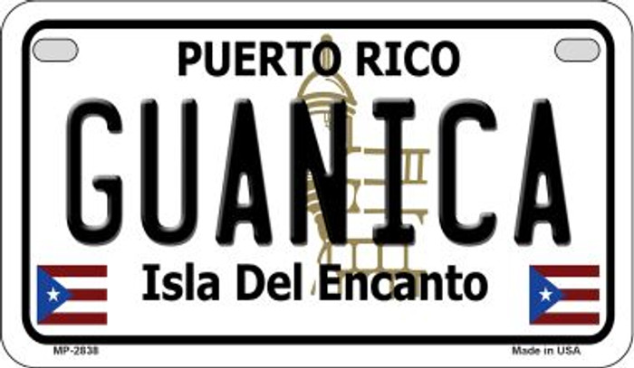 Guanica Puerto Rico Novelty Metal Motorcycle Plate MP-2838