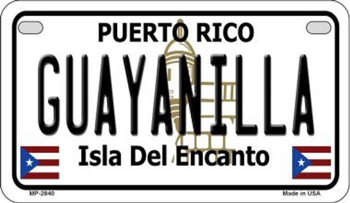 Guayanilla Puerto Rico Novelty Metal Motorcycle Plate MP-2840