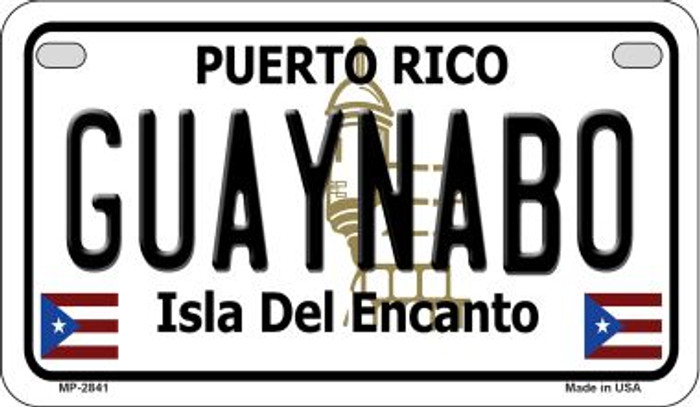 Guaynabo Puerto Rico Novelty Metal Motorcycle Plate MP-2841