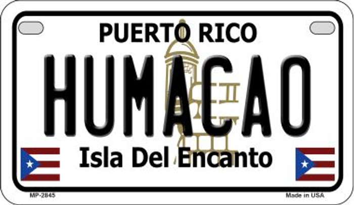 Humaco Puerto Rico Novelty Metal Motorcycle Plate MP-2845