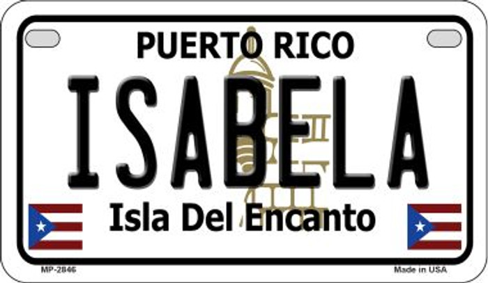 Isabela Puerto Rico Novelty Metal Motorcycle Plate MP-2846