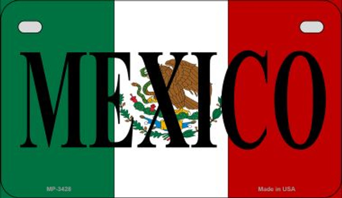 Mexico Flag Novelty Metal Motorcycle Plate MP-3428