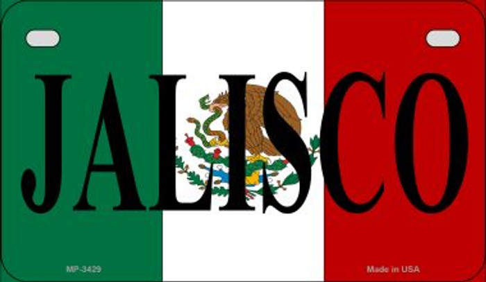 Jalisco Mexico Flag Novelty Metal Motorcycle Plate MP-3429