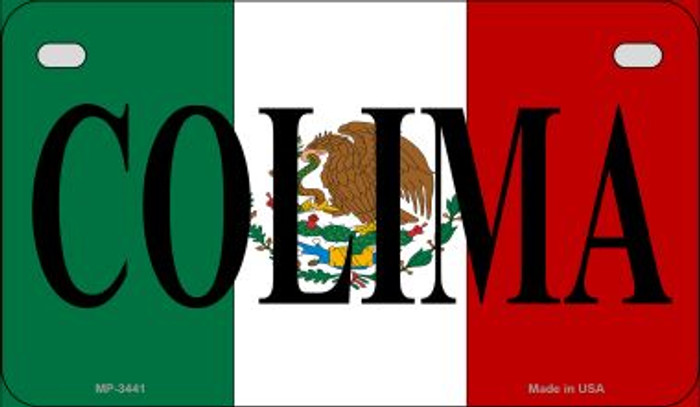 Colima Mexico Flag Novelty Metal Motorcycle Plate MP-3441