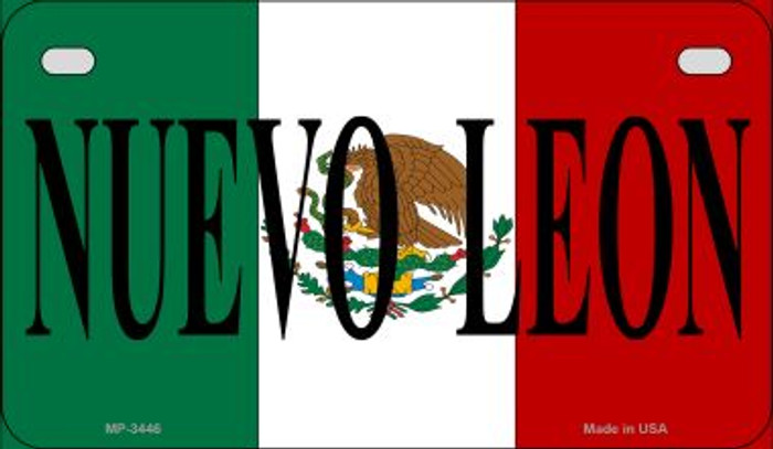 Nuevo Leon Mexico Flag Novelty Metal Motorcycle Plate MP-3446