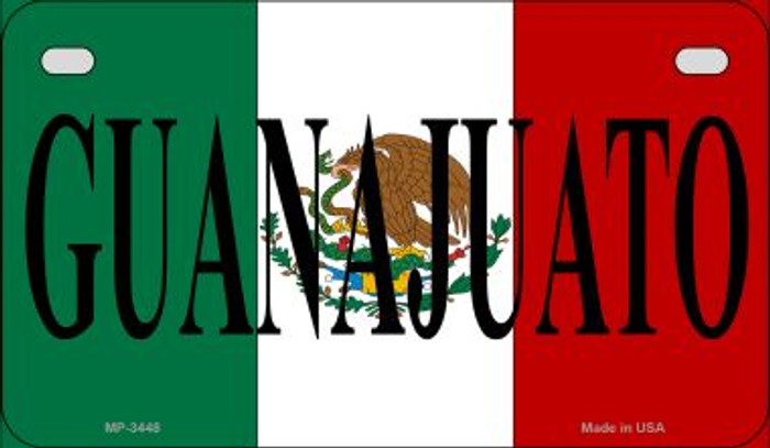 Guanajuato Mexico Flag Novelty Metal Motorcycle Plate MP-3448