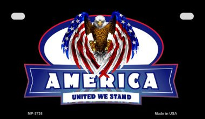 America United Novelty Metal Motorcycle Plate MP-3738