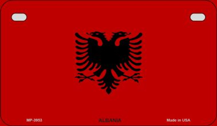 Albania Flag Novelty Metal Motorcycle Plate MP-3953
