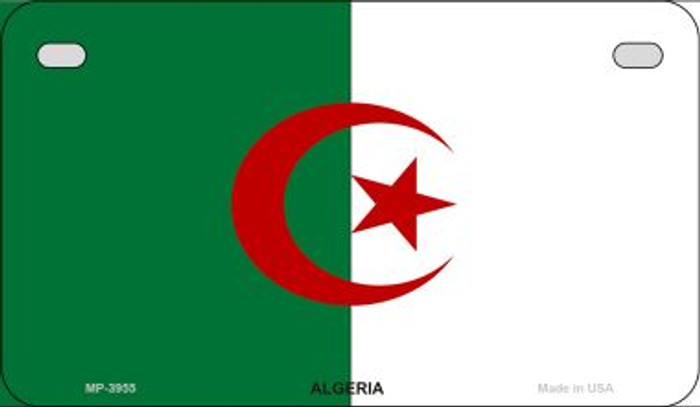 Algeria Flag Novelty Metal Motorcycle Plate MP-3955