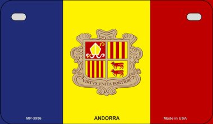 Andorra Flag Novelty Metal Motorcycle Plate MP-3956