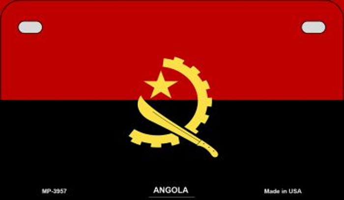 Angola Flag Novelty Metal Motorcycle Plate MP-3957