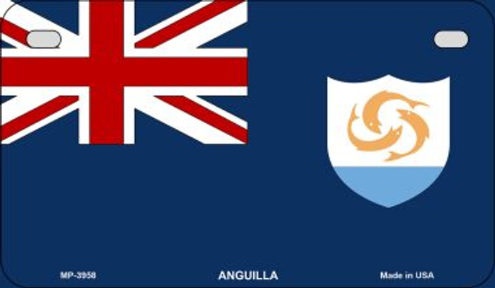 Anguilla Flag Novelty Metal Motorcycle Plate MP-3958