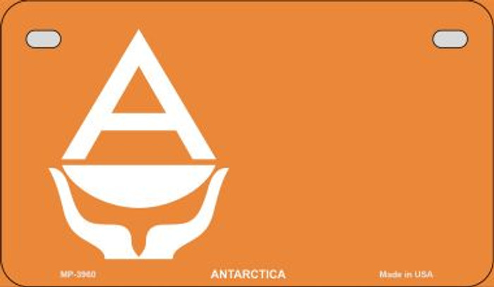 Antarctica Flag Novelty Metal Motorcycle Plate MP-3960