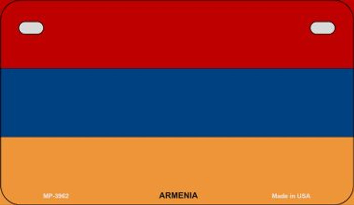 Armenia Flag Novelty Metal Motorcycle Plate MP-3962