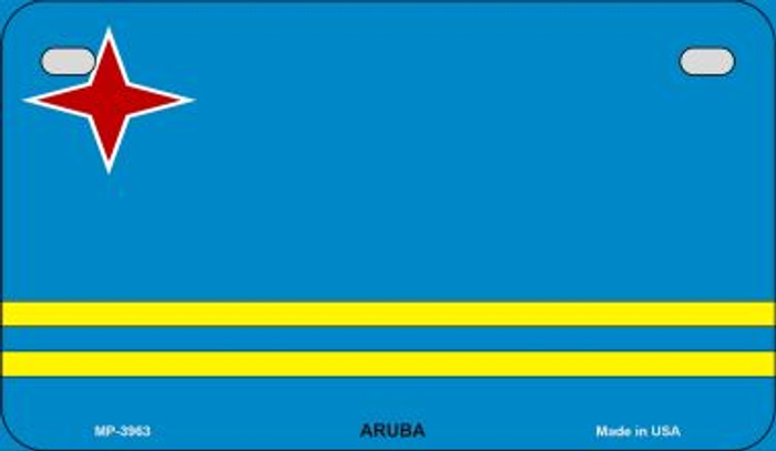 Aruba Flag Novelty Metal Motorcycle Plate MP-3963