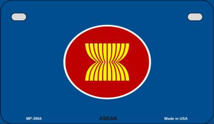 Asean Flag Novelty Metal Motorcycle Plate MP-3964