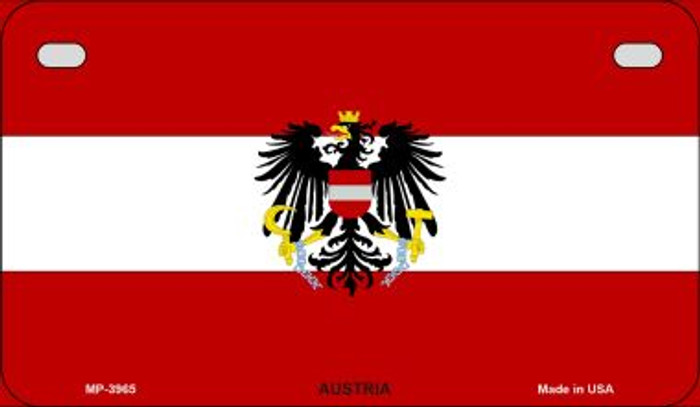 Austria Flag Novelty Metal Motorcycle Plate MP-3965