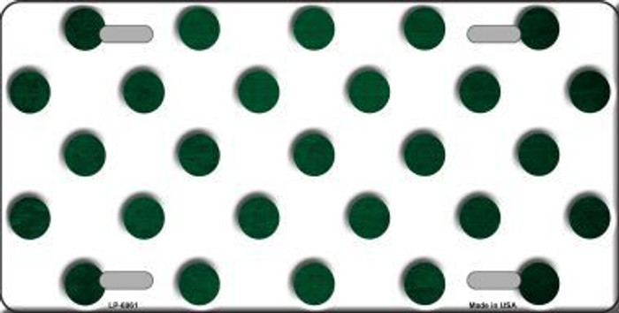 Green White Dots Oil Rubbed Metal Novelty License Plate